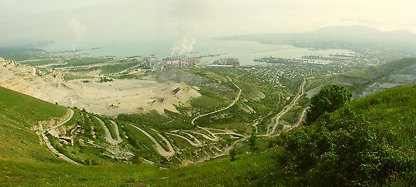 Вид на Новороссийск