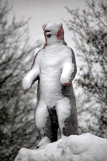 Мишка в снегу