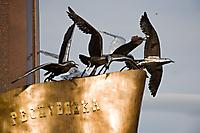 Птицы на памятнике